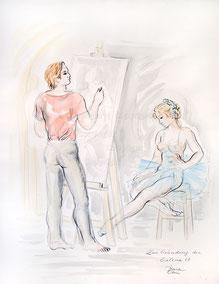 Nr. 1613 Maler und Modell