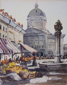 Nr. 1234 Markt vor dem Bundeshaus Bern