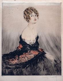 Nr. 3357 Dame mit Federschal