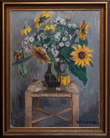 Nr. 3417  Blumenstilleben auf Stuhl