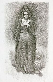 Nr.757 Frau mit Bodenvase
