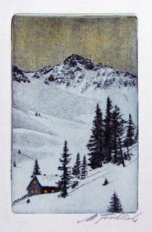 Nr.731 Berglandschaft Winterabend