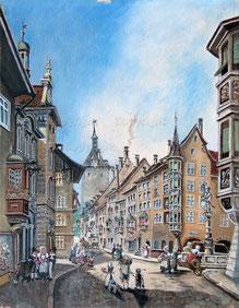 Nr. 1376 Schaffhausen Blick in die Oberstadt