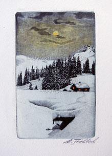Nr.730 Winterlandschaft im Mondlicht