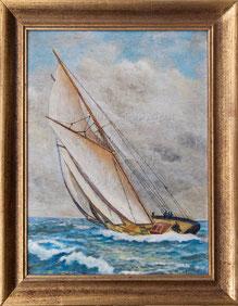 Nr. 1308 Zwei-Mast-Segler im Wind