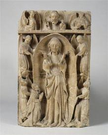 Assomption de la Vierge, albâtre anglais, XVe siècle, Musée de Cluny / Photo RMN