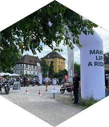 BMW Motorrad on Tour 2021 an der Tonenburg in Höxter