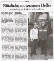 10 Jahre Streich Landmaschinen Presseartikel
