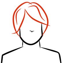 dessin perruque rousse