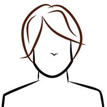 dessin perruque brune