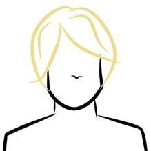 dessin perruque blonde