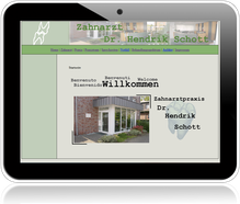 Website der Zahnarztpraxis Dr. Hendrik Schott in Tönisvorst bei Krefeld