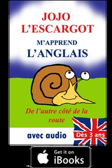 Image de la couverture sur i-books de JoJo l'escargot m'apprend l'anglais.