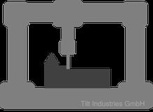 Geschlossene Bauweise, Portalgestell, Portalbauweise, Fräse, CNC, Fertigung, Aufbau, Tilt Industries