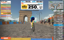 seit der TdF 2020 gibt es den Stadtparcours in Paris bei Zwift