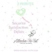 Sécurité, attache tétine, satisfaction, délais