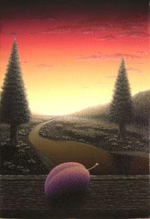 「プルーン」 油彩・キャンバス SM