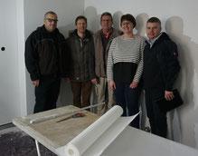 Auf dem Foto von links: Thomas Jung, Bürgermeister Peter Kreß, Michael Welzbacher, KiGa-Leiterin Tanja Kraus, Frank Kremer