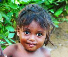 Irular Kind aus dem Ureinwohnerdorf K.