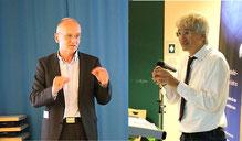 Prof. Martius von der Hochschule München und Prof. Vogt von der LMU erklärten, warum uns Bilder ansprechen.