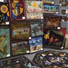 Rug exhibit at Searsport Harbor Hookin' 2014