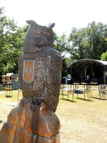 Der UHU, das Wahrzeichen von Oebisfelde, wartet auch schon ungeduldig auf die Gäste.