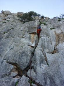 Klettern, Climbing, El Chorro, Spain, Andalusia, Esa bavaresa, Desplomilandia, Sektor Poza de la mona