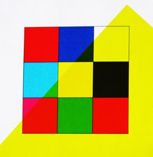 Damier coloré avec filtre coloré jaune