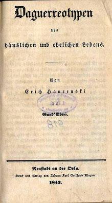 Innentitel des Buches von Erich Haurenski zu Gard'Ebré - alias  H. C. Krause, Archidiaconus von Radeberg