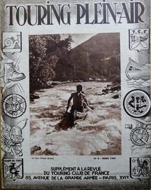 Revue Touring Plein Air n° 3, TCF, 1947 (la Bibli du Canoe)