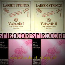 Lasren A + D Soloist and the G + C Thomastik Spirocore strings. buy