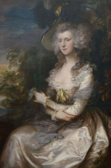 Mrs Thomas Hibbert, Thomas Gainsborough, 1786, Neue Pinakothek München, Rococo fashion and hairstyle. picture taken by Nina Möller