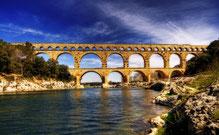 le pont du gard, la camargue, saint remy de provence, les arene de nime