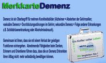 Merkkarte Demenz - Vorderseite