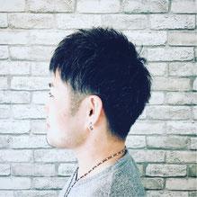 千葉市理容室Barber-salon-Revaメンズサマーショートツーブロックスタイル写真