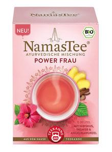 NamasTee Power Frau 4er Pack Kräutertee nach Ayurvedischer Mischung (108g)