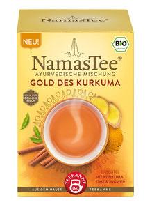 NamasTee Gold des Kurkuma 4er Pack Kräutertee nach Ayurvedischer Mischung