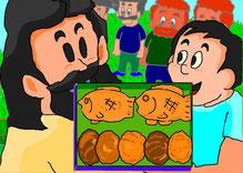 5つのパンと(塩屋 弘・画)
