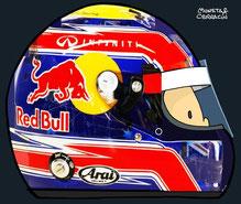 Helmet of MarkWebber by Muneta & Cerracín