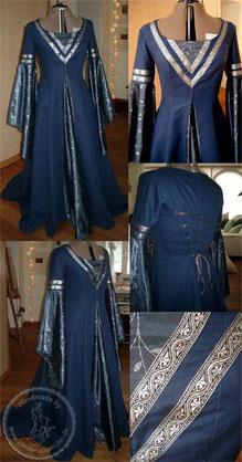 Mittelalterkleid, Mittelalter Gewand, Gewandung, Mittelaltergewandungen