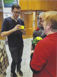 v. l. n. r.: Jürgen Lindner, Monika Hrastnik, Renate Heidner (Vorsitzende d. Gesangsvereins)
