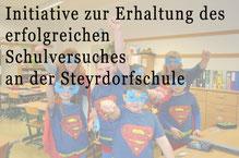 Petition: Initiative zur Erhaltung des erfolgreichen Schulversuches an der Steyrdorfschule   Bild: Petition (Link) 7 angep. spagra