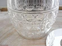 Antike Behälter aus Kristallglas
