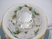 Antike Sterling Silber Serviettenringe aus England