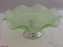 Art Deco Glasschale um 1930 aus England