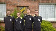 Die Torschützen von l.n.r.: Philipp Michielsen, Lars Otten, Oliver Reiners und Christian Bents