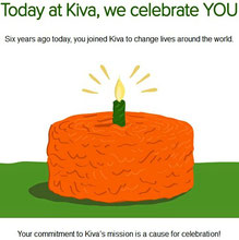 Kiva feiert meine 6-jährige aktive Mitgliedschaft