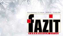 "Weihnachtsausgabe Fahrwanger Ziitig ""FAZIT"""