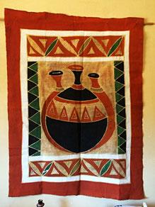 Batik Wandschmuck in der Küche