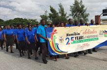 Die Feierlichkeiten zum Jubiläum der Unabhängigkeit haben Rundu erreicht.